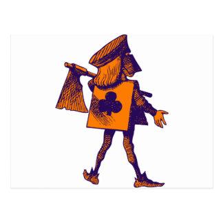 Executioner of Clubs Purple Orange Postcard
