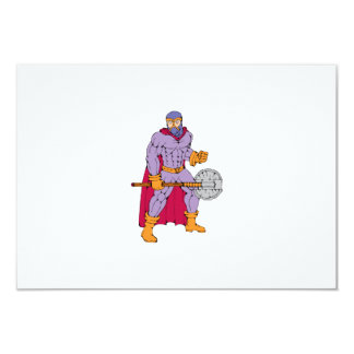 Executioner superhero with axe 9 cm x 13 cm invitation card