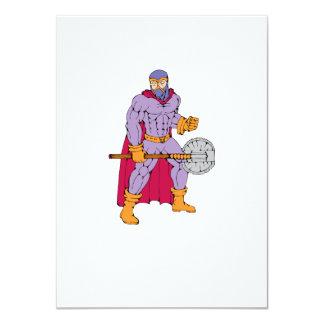 Executioner superhero with axe 11 cm x 16 cm invitation card