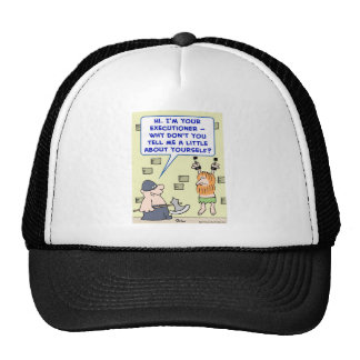 executioner tell me a little about yourself trucker hat
