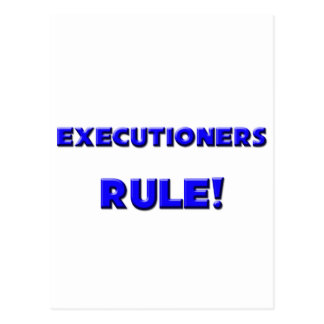 Executioners Rule! Postcard