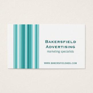 Executive Bars Business Card, Teal Business Card