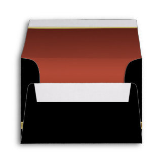 Executive Black with Gold Monogram  | Copper Envelope