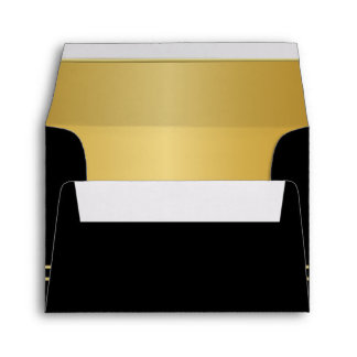 Executive Black with Gold Monogram Plate | Gold Envelope