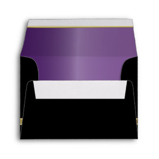 Executive Black with Gold Monogram Plate | Purple Envelope
