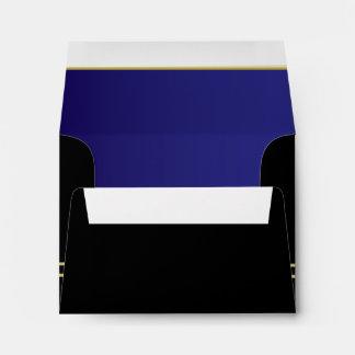 Executive Black with Gold Monogram | Sapphire Envelope