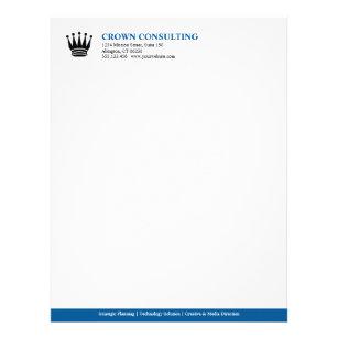 Executive letterhead zazzle executive blue stripe custom logo professional letterhead spiritdancerdesigns Images
