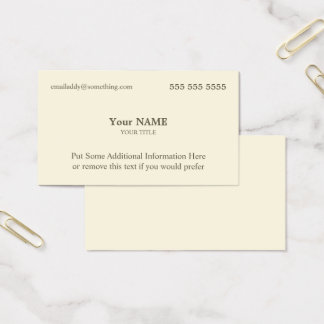 Executive Bone Business Card