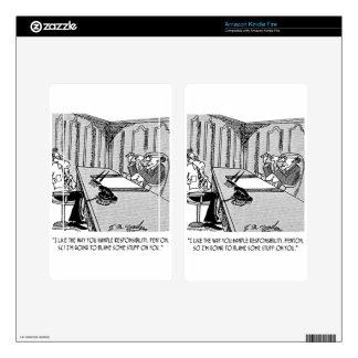 Executive Cartoon 6250 Decal For Kindle Fire