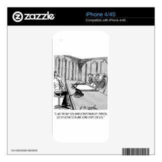 Executive Cartoon 6250 iPhone 4S Decals