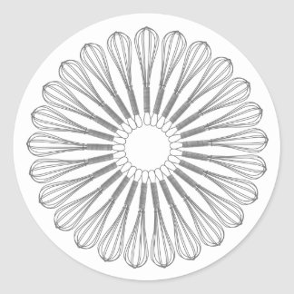 Executive Chef Culinary,  Whisk Classic Round Sticker