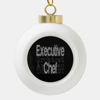 Executive Chef Extraordinaire Ceramic Ball Christmas Ornament