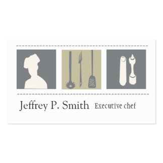 Executive Chef  Foodist Culinary Business Cards