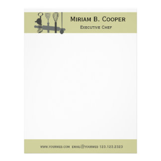 Executive Chef Professional Cook Letterhead Template