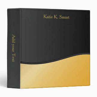 Executive Classic Black with Citrine Accent 3 Ring Binder