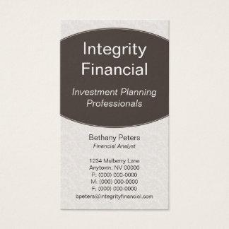 Executive Curves Business Card, Espresso Business Card