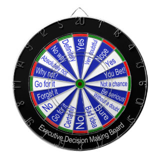 Executive Decision Making Dart Board Traditional Dart Boards