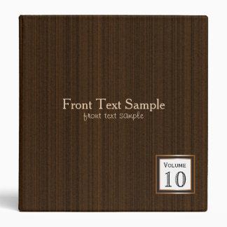 Executive Design - Dark Brown Texture Print Binder