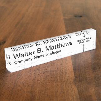 Executive Desk Name Plates