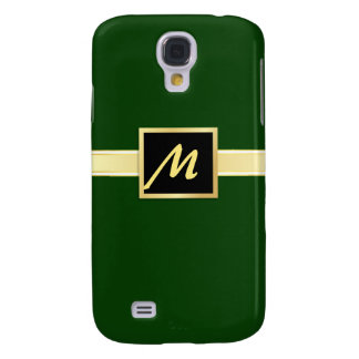 Executive Green - Gold Monogram iPhone3g Case