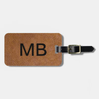 Executive Leather Look Bag Tag