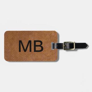 Executive Leather Look Bag Tag