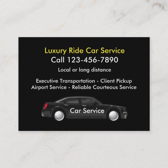 Executive Luxury Car Service Business Card