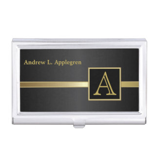 Executive Masculine Style | Monogram Case For Business Cards
