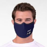 Executive Men's Golf Cart Golfing Premium Face Mask