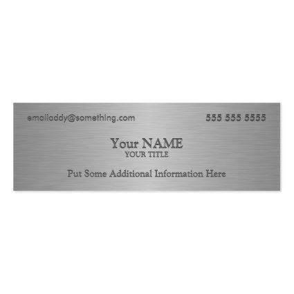 Executive Metallic Texture Print Business Card
