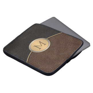 Executive Modern Monogram Laptop Sleeve