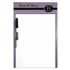 Executive Monogram Design - Amethyst Brush Steel Dry-erase Board at Zazzle