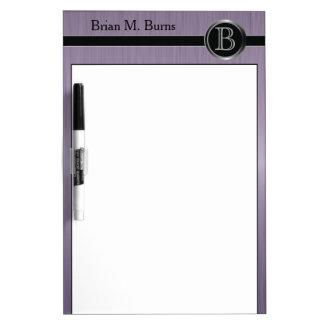 Executive Monogram Design - Amethyst Brush Steel Dry-Erase Board