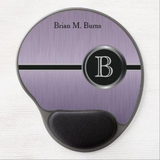 Executive Monogram Design - Amethyst Brush Steel Gel Mouse Pad