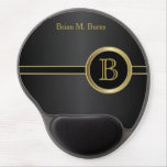 Executive Monogram Design | Classic Black Gel Mouse Pad<br><div class='desc'>Executive Monogram Design. Click the CUSTOMIZE IT button to personalize with your own text. SEE MORE DESIGNS AT: www.zazzle.com/designsbydonnasiggy*  original design by Donna Siegrist &#169; 2014.   Thank you for the support and stopping by my store!</div>