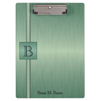 Executive Monogram Design - Emerald Clipboard