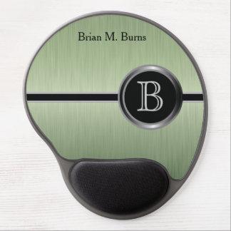 Executive Monogram Design | Peridot Brush Steel Gel Mouse Pad
