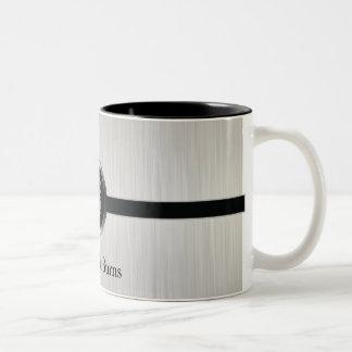 Executive Monogram Design | White brush Steel Coffee Mug