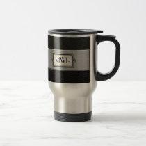 Executive Monogram Letters Stainless Steel Coffee Travel Mug