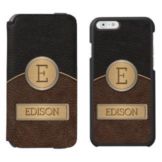 Executive Monogram Name Template iPhone 6/6s Wallet Case