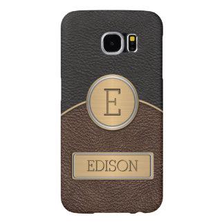 Executive Monogram Name Template Samsung Galaxy S6 Case