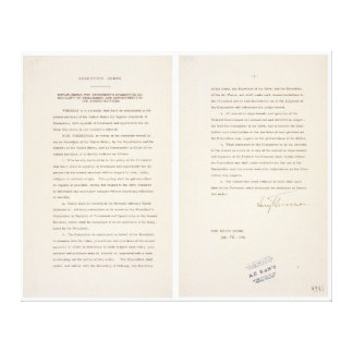 Executive Order 9981 Desegregation of Armed Forces Canvas Print
