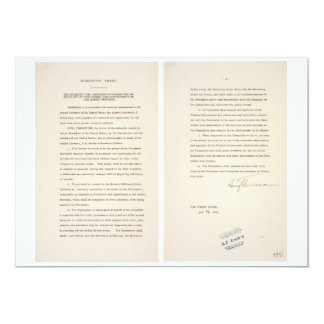 Executive Order 9981 Desegregation of Armed Forces Card