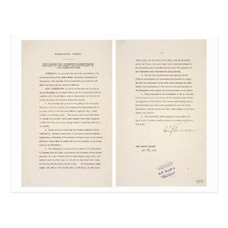 Executive Order 9981 Desegregation of Armed Forces Postcard
