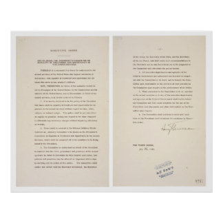 Executive Order 9981 Desegregation of Armed Forces Poster