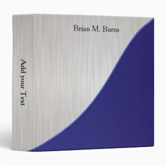 Executive Personalize Design - White Brush Steel Binder