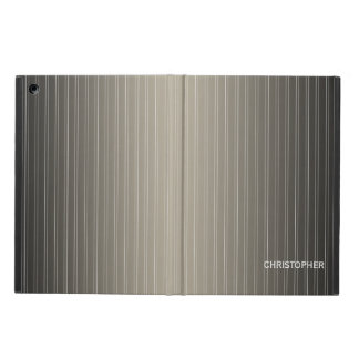 Executive Pinstripe Design with Name for Men Cover For iPad Air