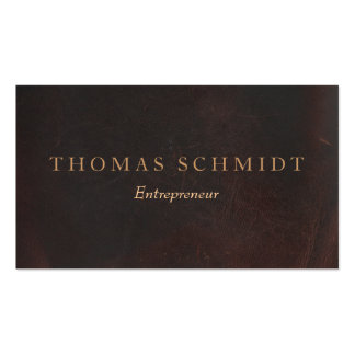 Executive Professional Braun Leder Weinlese Business Card