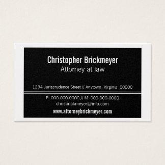 Executive Professional Business Card, Black Business Card