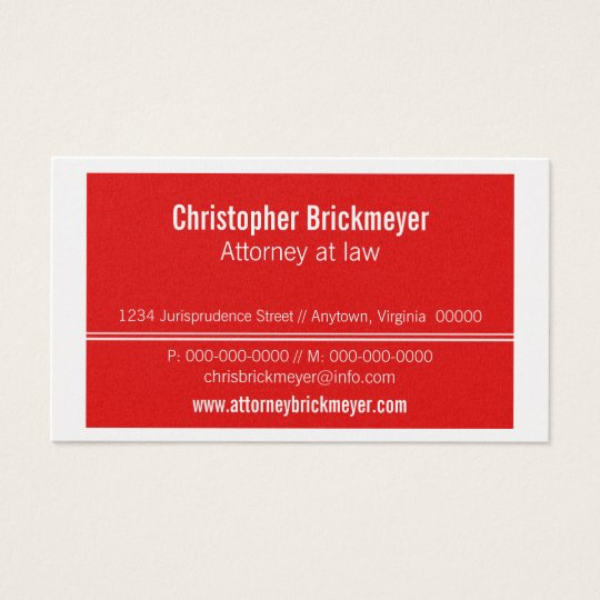 Executive Professional Business Card, Red Business Card